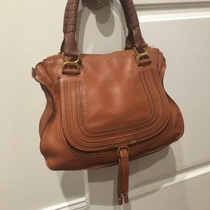 Chloe Marcie brown tan leather bag